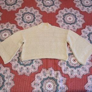Topshop sweater- cropped